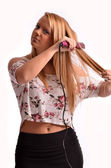 Styling hair — Stock Photo