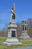 125th Pennsylvania and 34th New York Infantry Monuments - Antietam National Battlefield, Maryland — Stockfoto