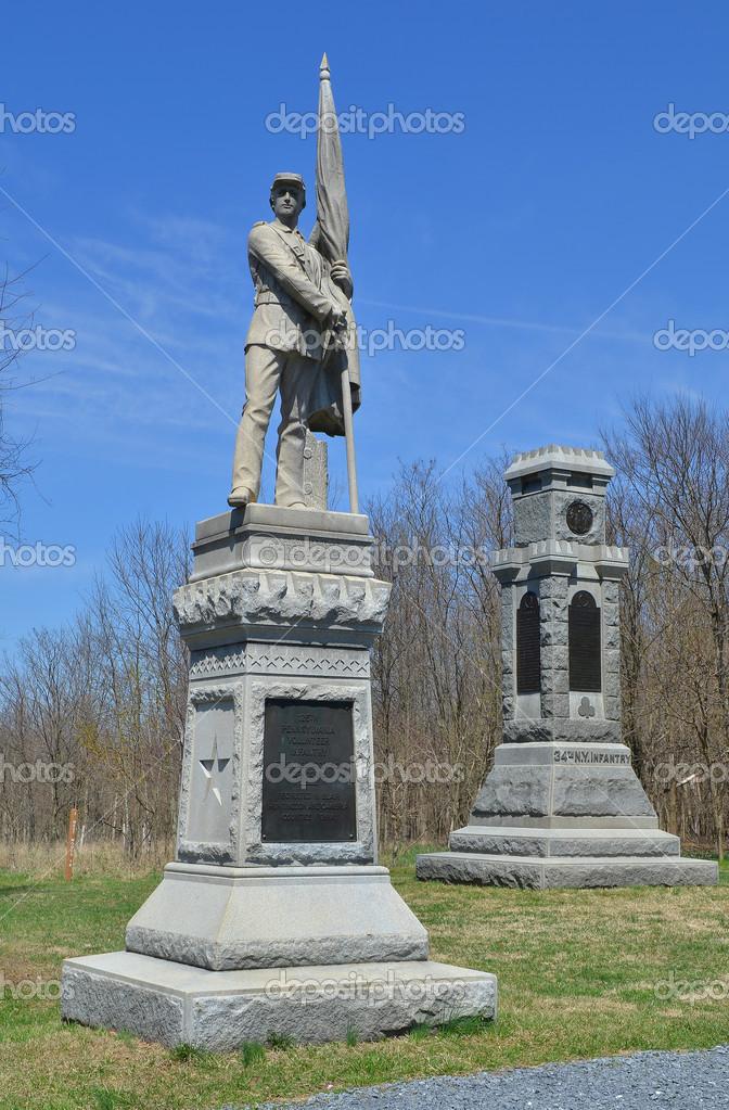 34 nueva york infanter�a monumentos - Nacional Batalla de antietam ...