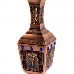 Bronze Egyptian vase isolated on white — Stock Photo