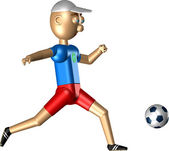 The robot plays soccer — Stock Photo
