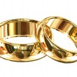 Wedding rings isolated — Stock Photo