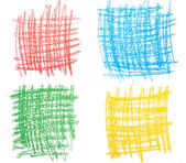 Colorful background drawing with pencil, green, blue, red, yellow, texrure — Stock Photo