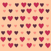 Background with Hearts, Valentine day — Vector de stock