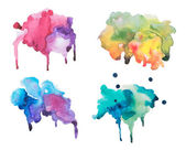 Watercolor blots — Stock Photo