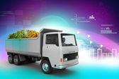 Truck with Dollar money — Stock Photo