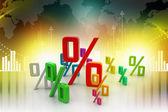 Growth percentage — Foto de Stock