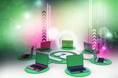 Computer network — Stock Photo