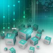 Dot com domain in cubes — Stock Photo
