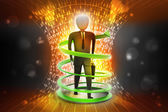 3d man business success concept — Stock Photo
