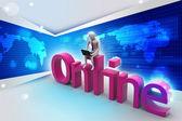 Online job concept — Stock Photo