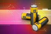 Batterijen in achtergrond — Stockfoto