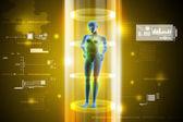 ženské lidské tělo nabíjení — Stock fotografie