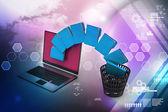 Transferencia de archivos carpeta — Foto de Stock