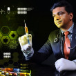 Doctor with a syringe — Stock Photo #50158489