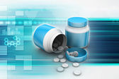 Medycyna butelek i pigułki — Zdjęcie stockowe