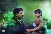 Baby with Pediatrician — Stock Photo