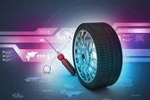 Tires replacement concept — Stok fotoğraf
