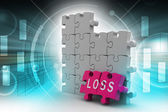 Loss in puzzle piece — Stock Photo