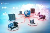 Redes informáticas mundiales — Foto de Stock