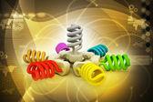 Colorful light bulbs — Stock Photo