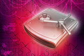 Secure Hard drive — Stock Photo