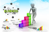 Concept growth of the business — Stock Photo
