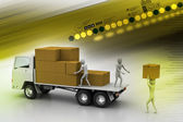 Freight delivery — Stockfoto