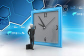Man watching the clock — Stock Photo
