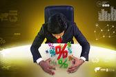 Man analysing financial growth — Stock Photo