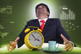 Man resting with cup of tea — Stock Photo