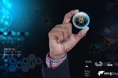 Virus in glass bubble — Stock Photo