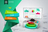 Grafico azionario — Foto Stock