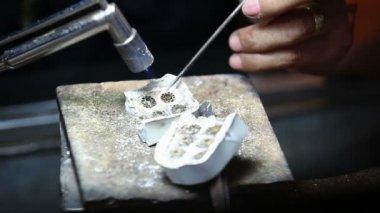 Goldsmith at work. Thailand — Stock Video