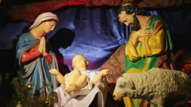 Presepe di natale — Video Stock