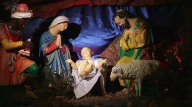 Julen julkrubba — Stockvideo