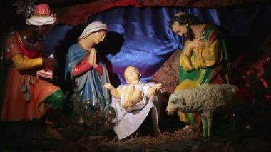 Christmas Nativity Scene — Stock Video