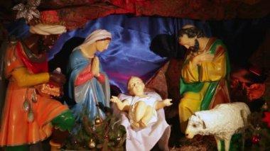 Christmas Nativity Scene — Stockvideo