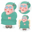 Old lady — Stock Vector #41471597
