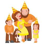 Family holiday — Stock Vector