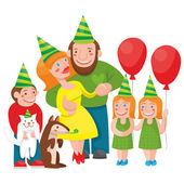 Party in a big family — Stock Vector
