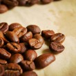 Coffee beans in warm tones — Stock Photo