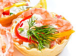 Snack from shrimps — Stock Photo