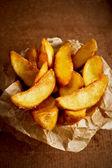 Salted fried potato — Stock Photo