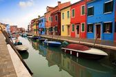 Canals and streets of Burano island — Stock Photo