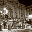 Trevi Fountain at night — Stock Photo