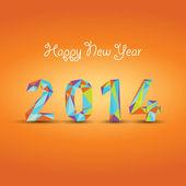 新年あけましておめでとうございます 2014年抽象的な背景 — ストックベクタ