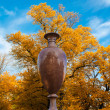 Granite vase in park — Stockfoto #35120237