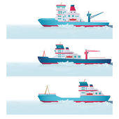 Set. Icebreakers — Stock Vector