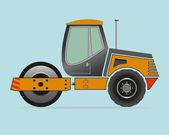 Road Roller isolated on background — Vector de stock